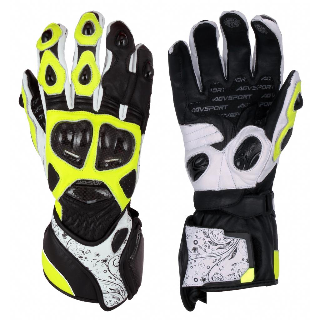 Мотоперчатки кожаные EVOLUTION черн/жел/бел