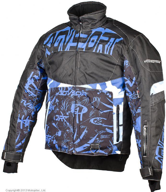 Снегоходная куртка Taiga, черная/синяя