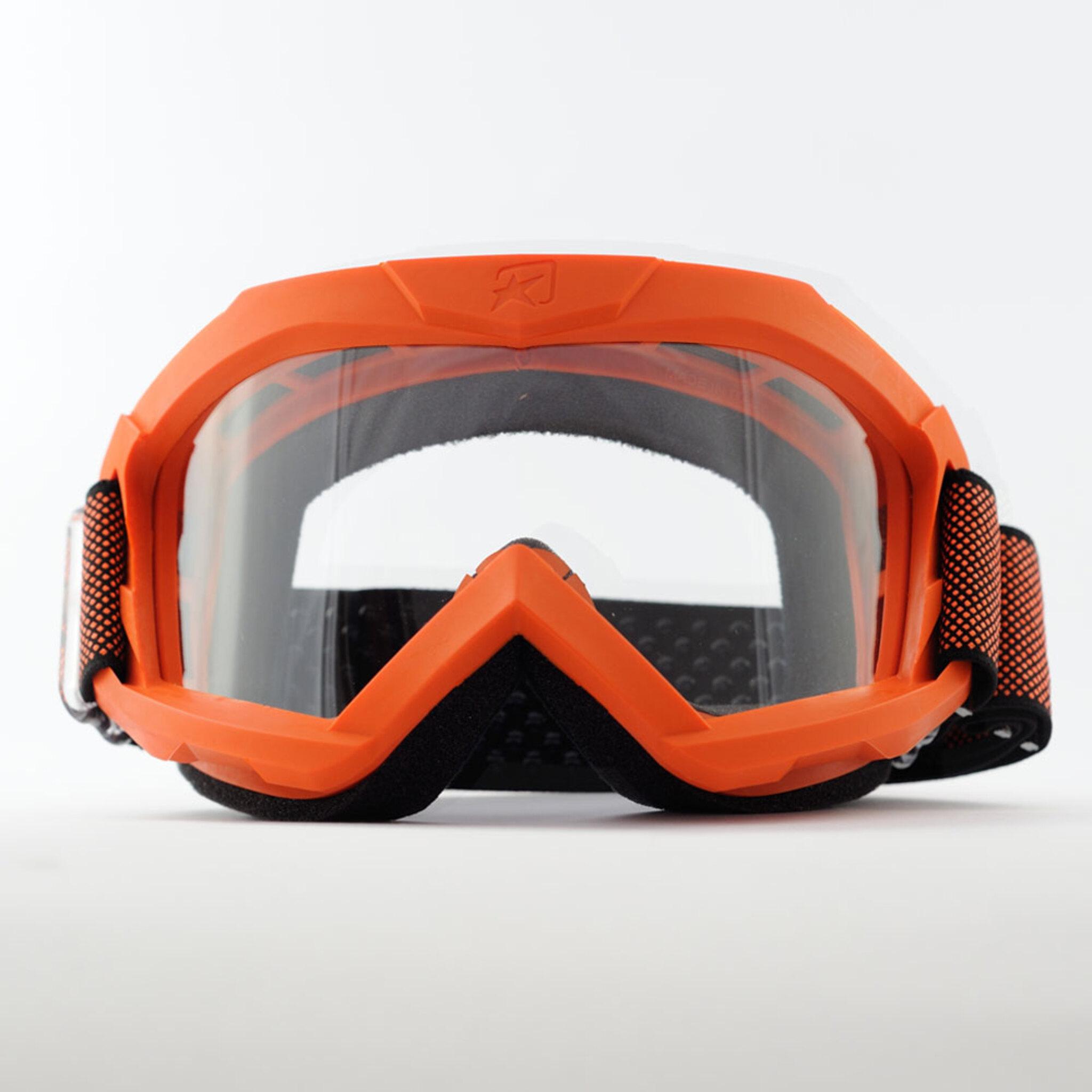 Маска кроссовая Ariete 07 Next Gen 2021, оранжевый, прозрачная линзы