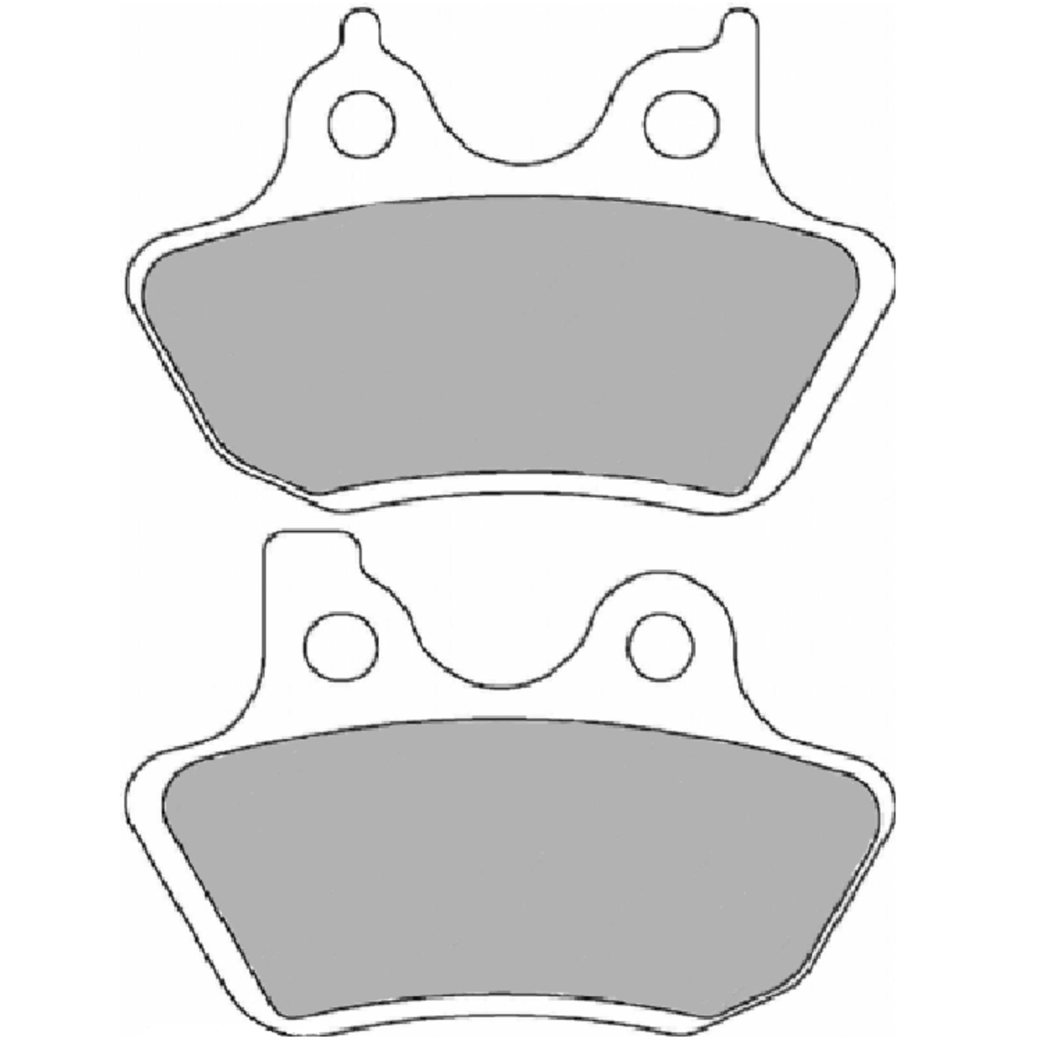 Тормозные колодки дисковые, FERODO(FDB2097ST)