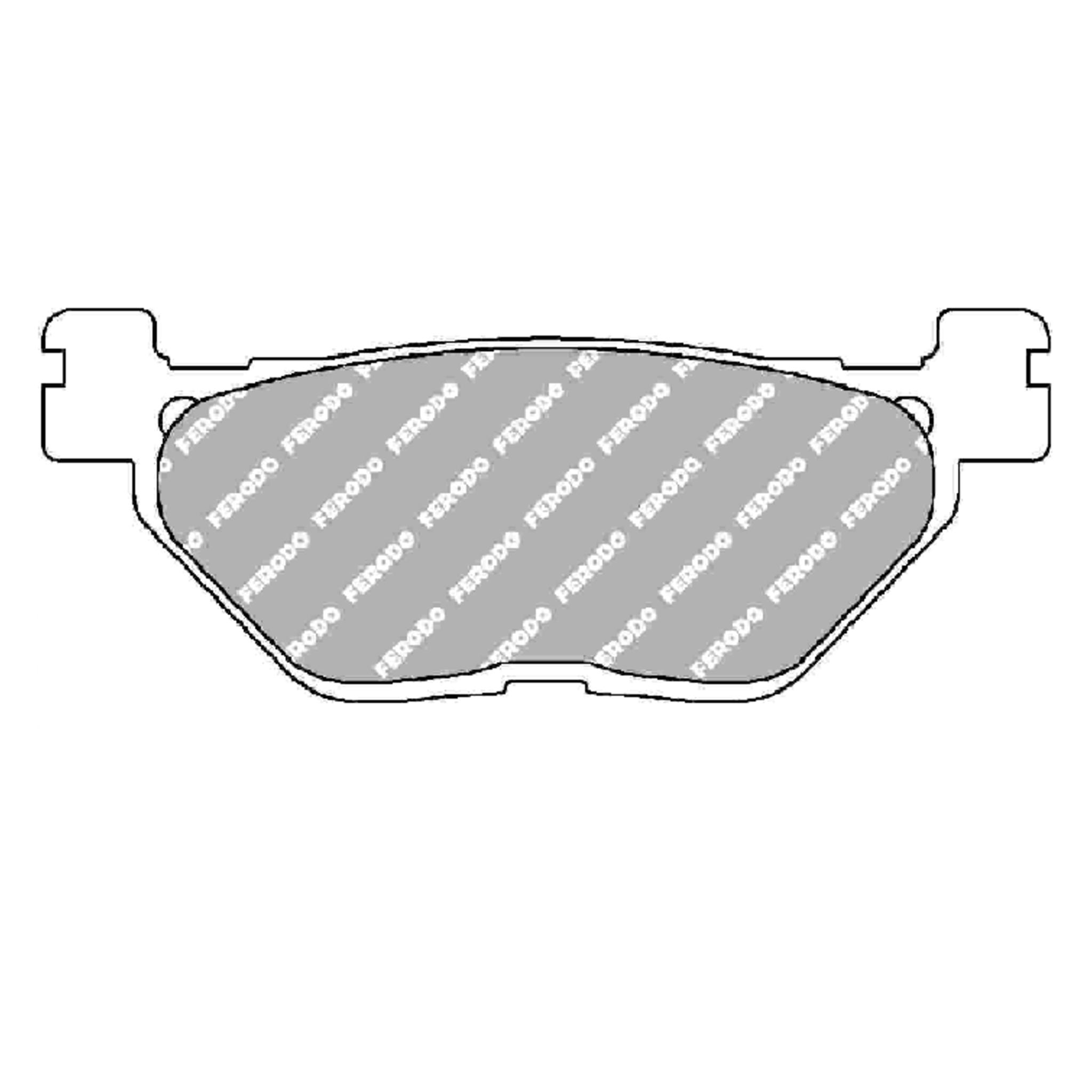 Тормозные колодки дисковые, FERODO(FDB2156P)