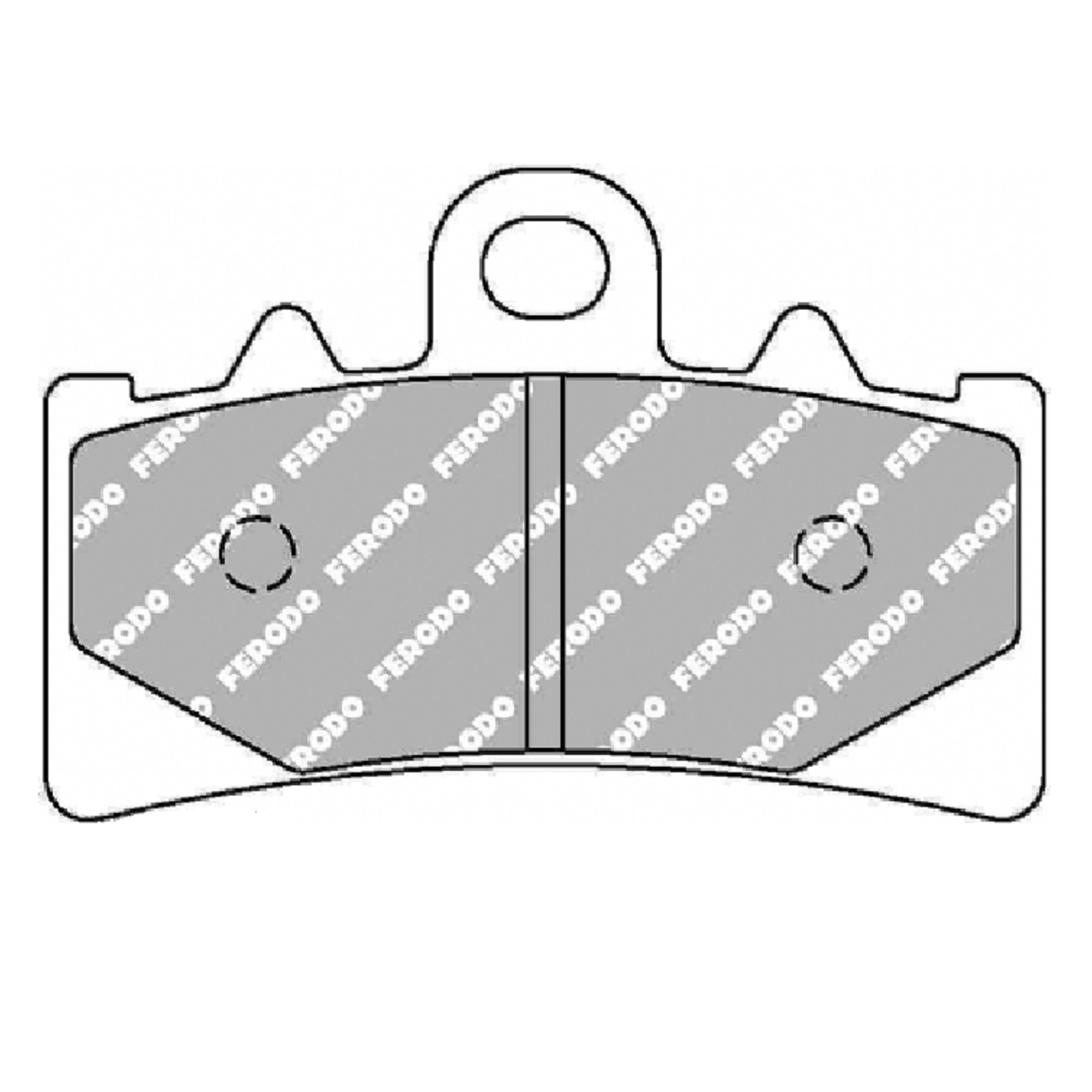 Тормозные колодки дисковые, FERODO(FDB2266ST)