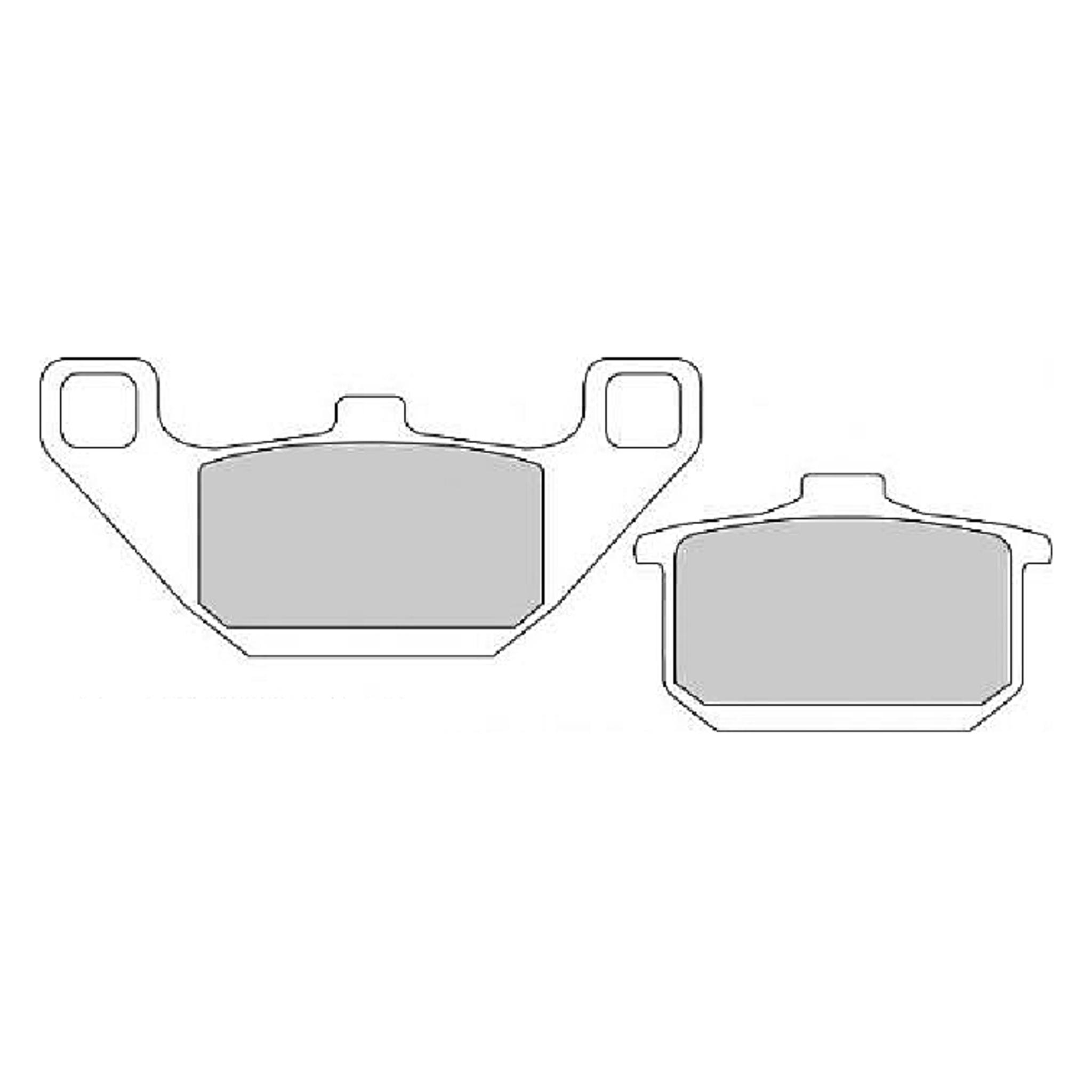 Тормозные колодки дисковые, FERODO(FDB339P)