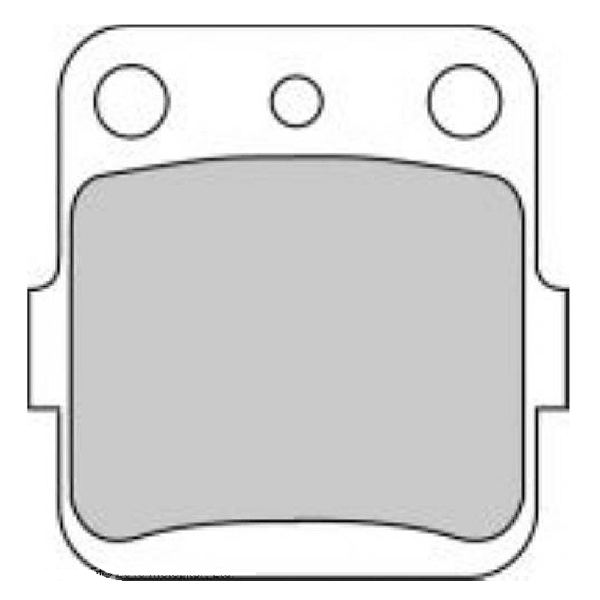 Тормозные колодки дисковые, FERODO(FDB381SG)