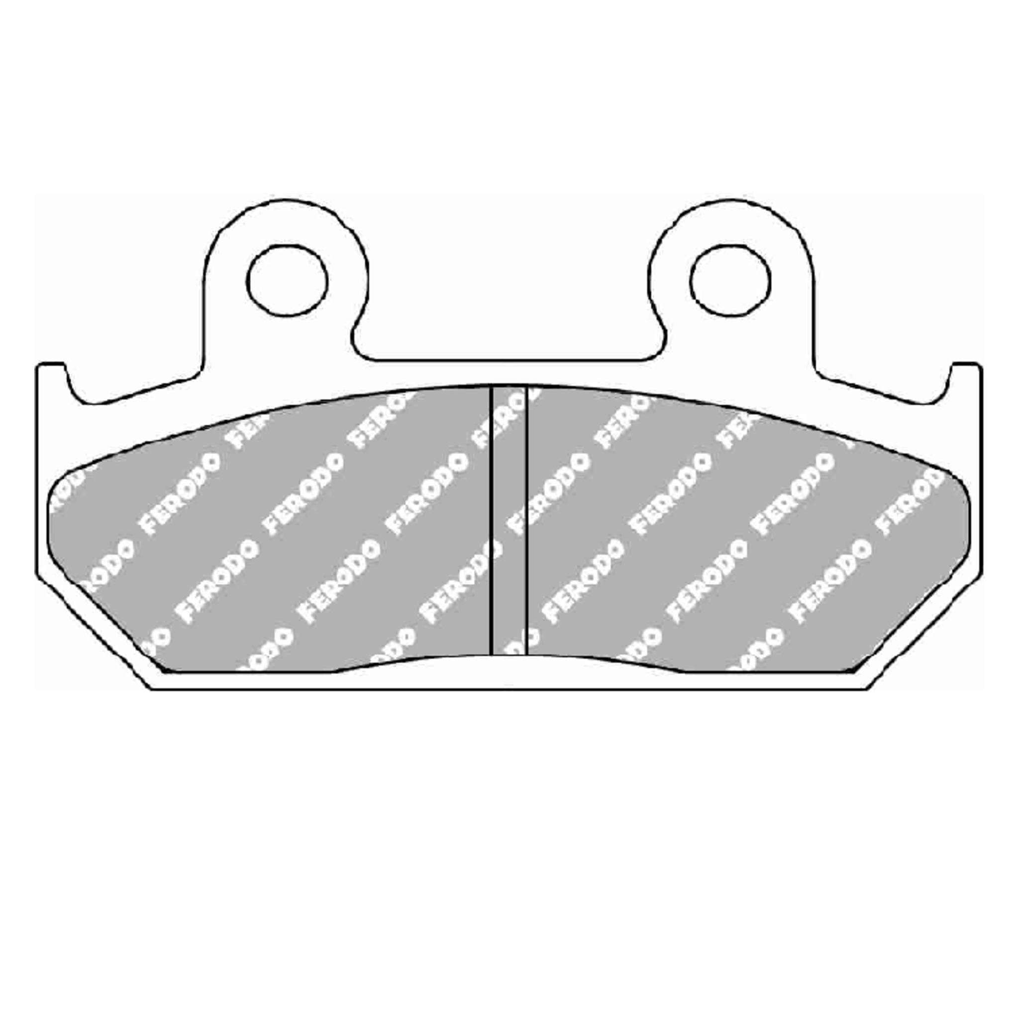 Тормозные колодки дисковые, FERODO(FDB462ST)