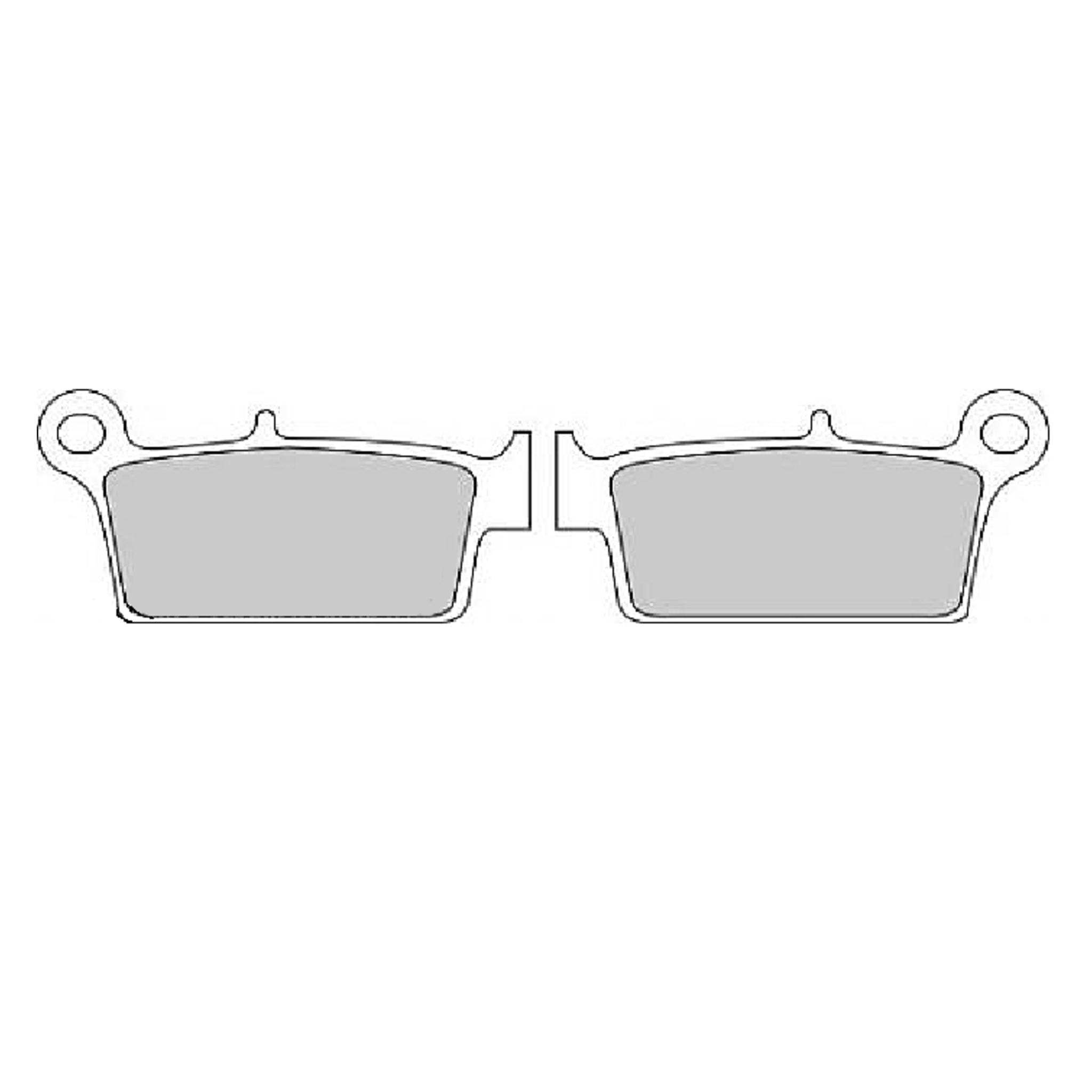Тормозные колодки дисковые, FERODO(FDB539P)