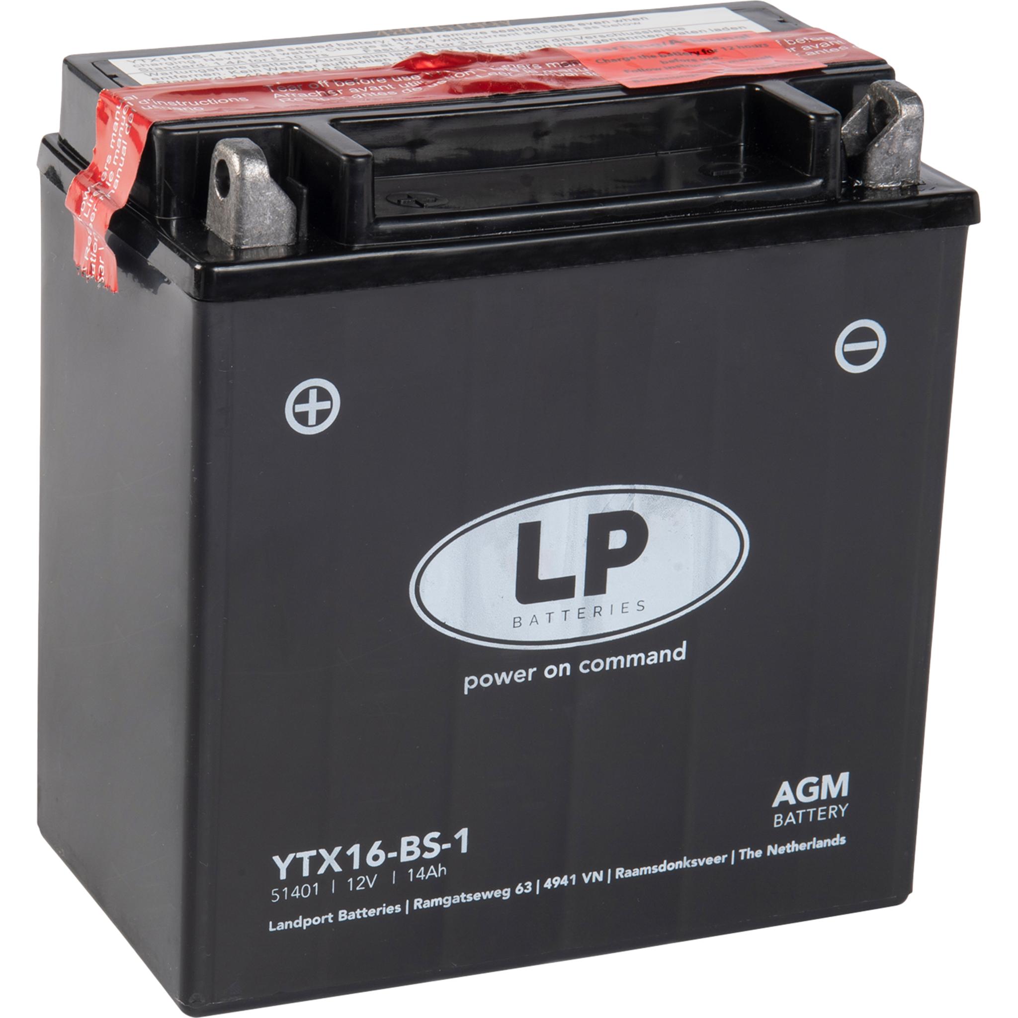 Аккумулятор Landport YTX16-BS-1, 12V, AGM