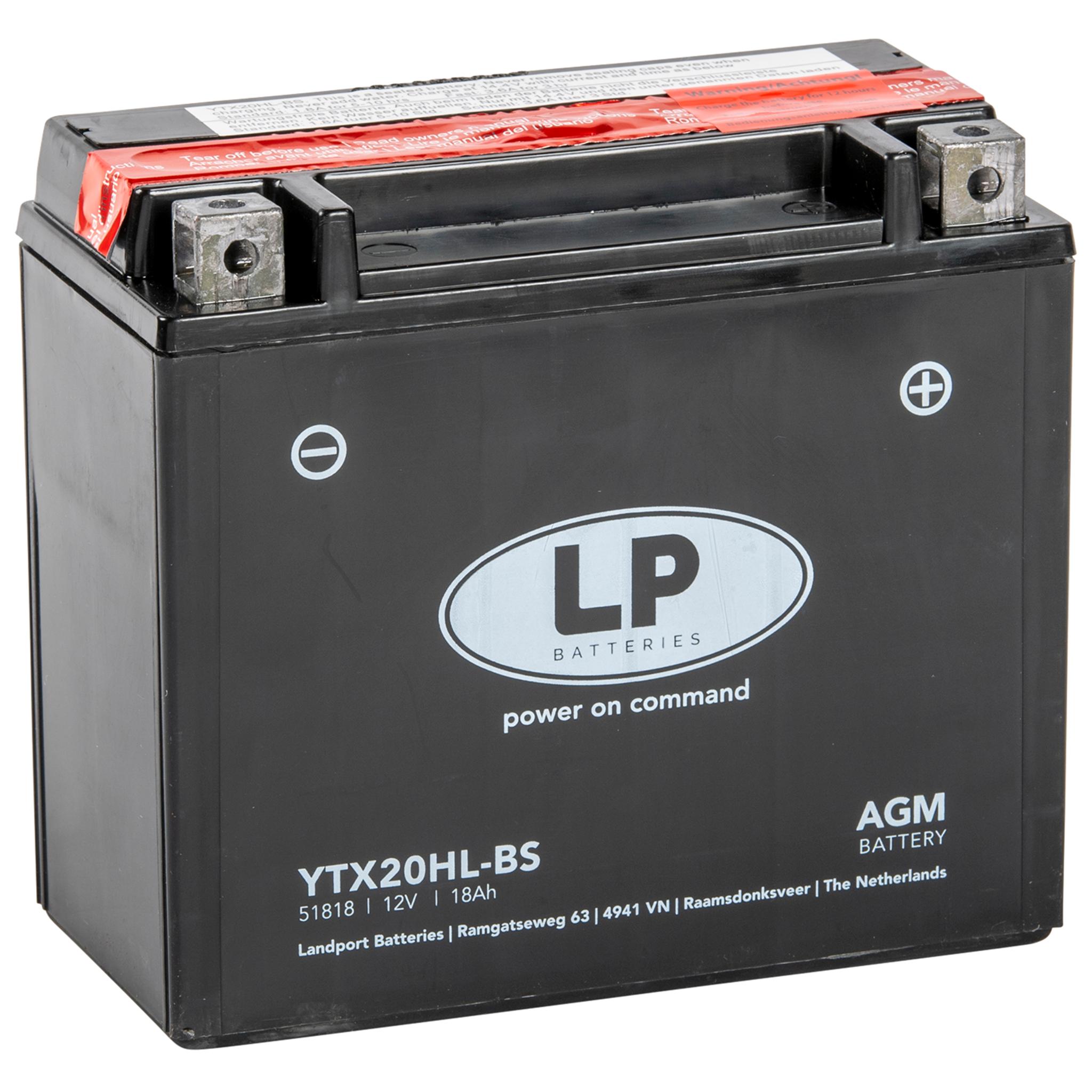 Аккумулятор Landport YTX20HL-BS, 12V, AGM