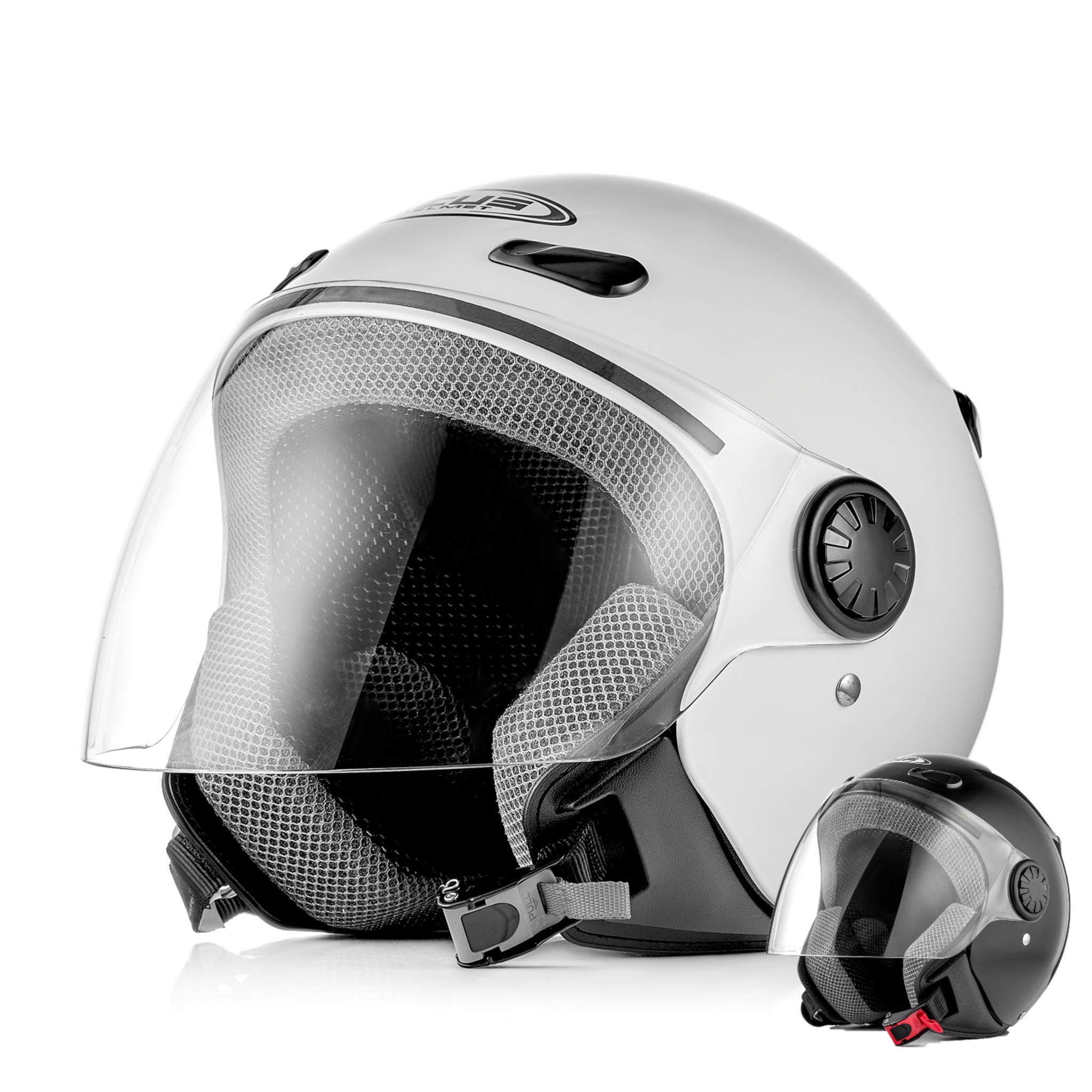 Шлем открытый ZEUS ZS-210B, глянец