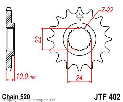 Звезда ведущая , JT 402.14