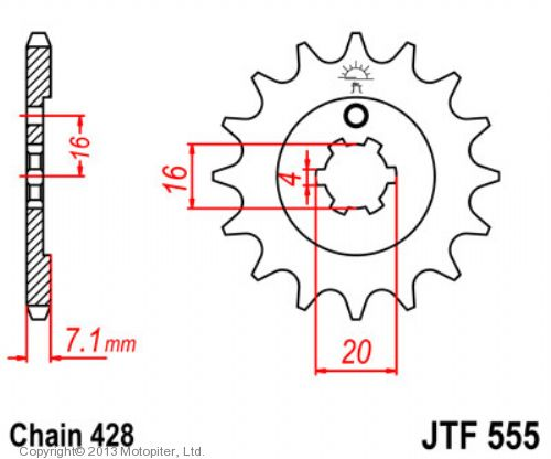 Звезда ведущая , JT 555.13