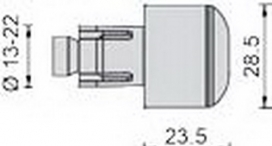 MA506A, Балансиры руля rizoma 23.5мм, алюминиевые, цвет металик