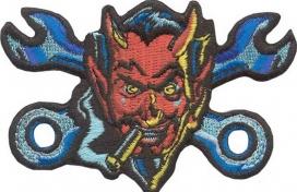 02091107, Нашивка дьявол с ключами