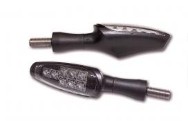 204-135, Поворотники koso z1 светодиодные чёрные