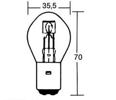 209-145, Лампа 12v 35/35w ba20d