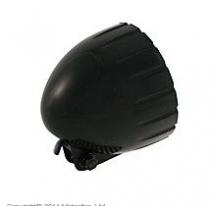 223-138, Фара черная с засечками 140 мм