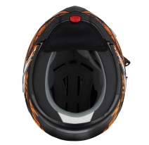 260-E10173, Снегоходный шлем модуляр с электростеклом MODE1 Tornado оранжевый матовый, размер M, цвет оранжевый матовый