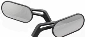 301-515, Универсальные зеркала oval черные, пара