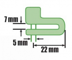 390-889, Замок luma на тормозной диск 5mm
