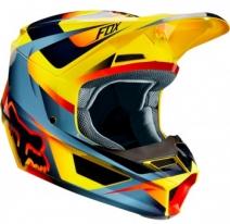 Fox Racing V1 Motif 2019 шлем кроссовый, желтый