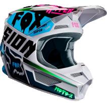 Fox Racing V1 Czar 2019 шлем кроссовый, серый