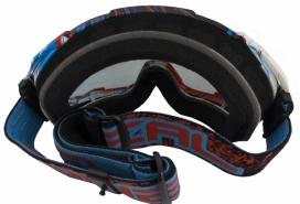 6032S-202, Кроссовая маска b2 rl goggle spray чёрная/радиум, цвет Разноцветный