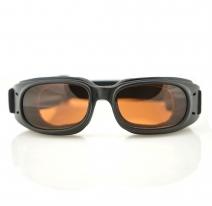 BPIS01A, Очки piston чёрные с янтарными линзами