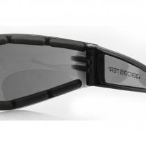 ESH201, Очки shield ii чёрные с дымчатыми линзами