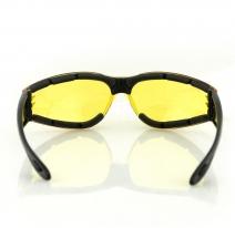 ESH204, Очки shield ii чёрные с жёлтыми линзами
