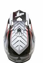 JT15 (Термопластик, глянец, Черный/Серый, L), Шлем кроссовый  ALS1.0 черно-серый, размер L