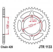 1133.53, Звезда задняя (ведомая),(сталь) JT 1133.53