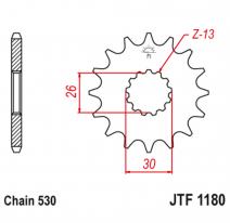 1180.18RB, Звезда ведущая , с демпфером, JT 1180.18RB