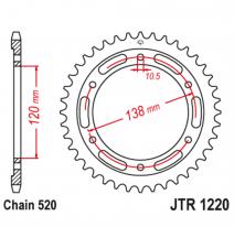 1220.38, Звезда задняя (ведомая),(сталь) JT 1220.38