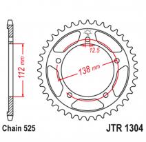1304.43, Звезда задняя (ведомая),(сталь) JT 1304.43