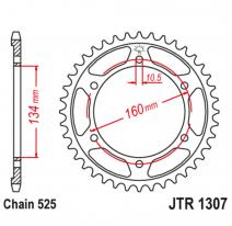1307.43, Звезда задняя (ведомая),(сталь) JT 1307.43
