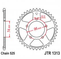 1313.42, Звезда задняя (ведомая),(сталь) JT 1313.42