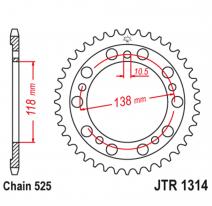 1314.39, Звезда задняя (ведомая),(сталь) JT 1314.39