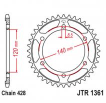 1361.50, Звезда задняя (ведомая),(сталь) JT 1361.50