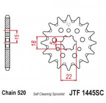 1445.13SC, Звезда ведущая , JT 1445.13SC