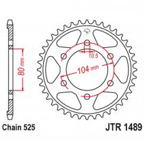 1489.40, Звезда задняя (ведомая),(сталь) JT 1489.40
