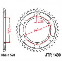 1490.45, Звезда задняя (ведомая),(сталь) JT 1490.45