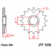 1539.14RB, Звезда ведущая , с демпфером, JT 1539.14RB