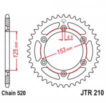 210.40, Звезда задняя (ведомая),(сталь) JT 210.40