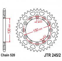 245/2.46, Звезда задняя (ведомая),(сталь) JT 245/2.46