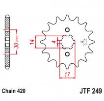 249.13, Звезда ведущая , JT 249.13