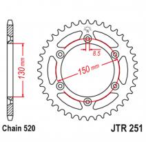 251.51SC, Звезда задняя (ведомая),(сталь) JT 251.51SC