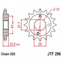 296.15RB, Звезда ведущая , с демпфером, JT 296.15RB