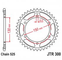 300.47, Звезда задняя (ведомая),(сталь) JT 300.47