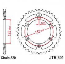 301.45, Звезда задняя (ведомая),(сталь) JT 301.45