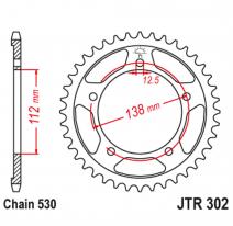 302.42, Звезда задняя (ведомая),(сталь) JT 302.42